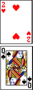 2 of Hearts, Queen of Spades