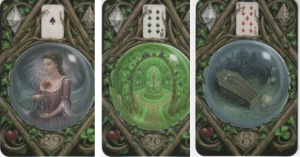 Lenormand 29 Woman - 20 Garden - 8 Coffin