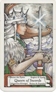 Queen of Swords - Hanson Roberts Tarot Deck