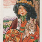 Queen of Pentacles - Hanson-Roberts Tarot Deck
