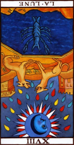 Tarot de Marseille - XVIII-The Moon Rx