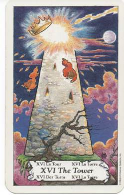 Hanson-Roberts Tarot Deck XVI-The Tower