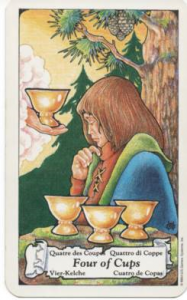 Hanson-Roberts Tarot Deck 4 of Cups