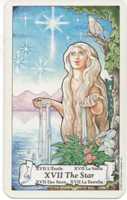 Hanson-Roberts Tarot Deck XVII-The Star