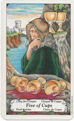 Hanson-Roberts Tarot Deck 5 of Cups