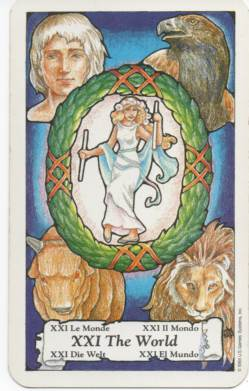 Hanson-Roberts Tarot Deck XXI-The World