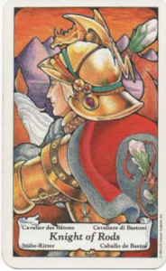 Hanson-Roberts Tarot Deck Knight of Wands