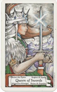 Hanson-Roberts Tarot Deck Queen of Swords