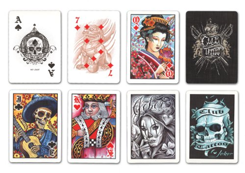 Bicycle Club Tattoo Playing Cards (c) 2013 The United States Playing Card Company