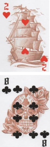 Answer Spread Column 1: 2 of Hearts - 8 of Clubs http://livingwithcards.com