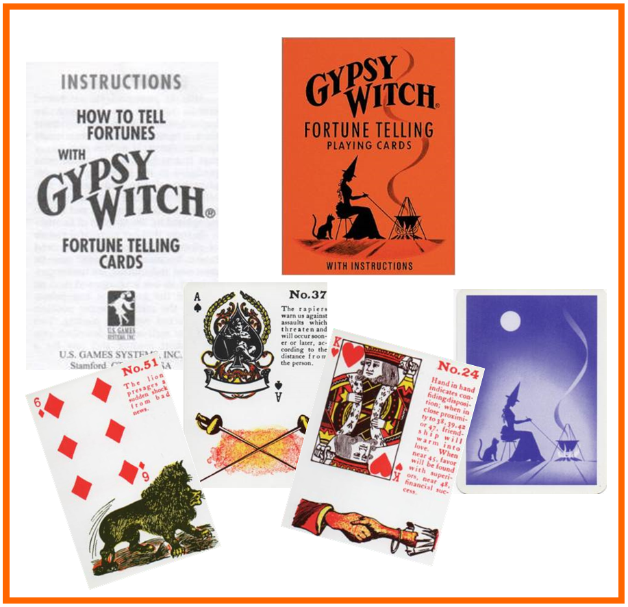 Gypsy Witch Fortune Telling Playing Cards http://livingwithcards.com