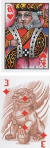 Answer Spread Column 3: King of Hearts - 3 of Diamonds http://livingwithcards.com
