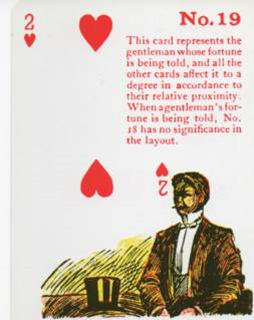 Gypsy Witch Fortune Telling Playing Cards - 2 of Hearts