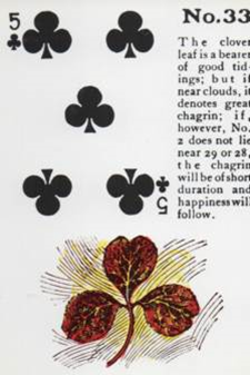 Gypsy Witch Fortune Telling Playing Cards: 5 of Clubs