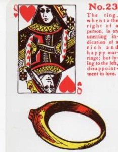 Gypsy Witch Fortune Telling Playing Cards - The Ring - Queen of Hearts