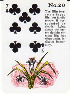 Gypsy Witch Fortune Telling Playing Cards - The Lilies - 7 of Clubs