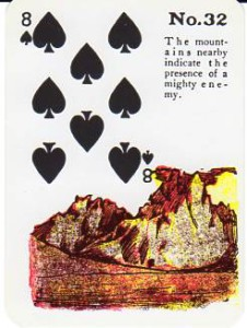 Gypsy Witch Fortune Telling Playing Cards - The Mountains - 8 of Spades