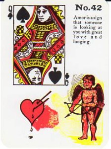 Gypsy Witch Fortune Telling Playing Cards Queen of Spades Amor