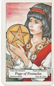 tarot page of pentacles