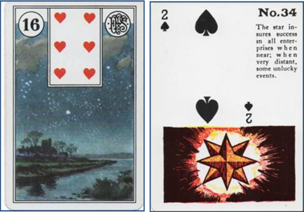 Lenormand 16 Stars vs Gypsy Witch 34 Star