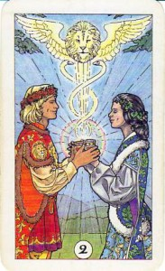 Robin Wood Tarot: 2 of Cups