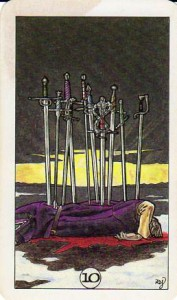 Robin Wood Tarot: 10 of Swords