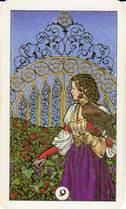 Robin Wood Tarot: 9 of Pentacles