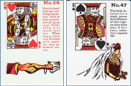 Gypsy Witch Fortune Telling Playing Cards Meanings and