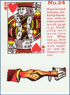 Gypsy Witch Fortune Telling Playing Cards 24 Hand in Hand (King of Hearts)