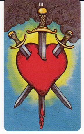 Morgan-Greer Tarot: 3 of Swords