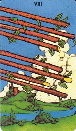 Morgan-Greer Tarot: 8 of Wands