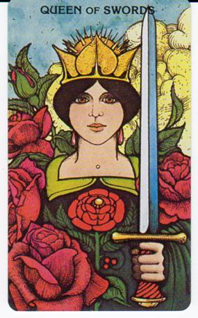 Morgan-Greer Tarot - Queen of Swords