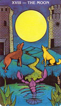 Morgan-Greer Tarot: XVIII-The Moon