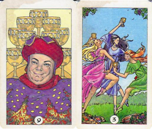 Robin Wood Tarot - 9 of Cups - 3 of Cups