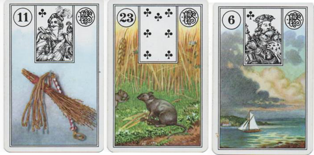 Lenormand Square of 9 for Missing Child DeOrr Kunz Row 1: 11 Whip - 23 Mice - 6 Clouds