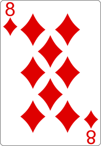 Playing cards 8 of Diamonds http://livingwithcards.com