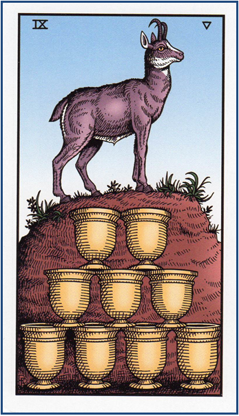 Alchemical Tarot Revisited by Robert M. Place 9 of Cups - The Wish Card http://livingwithcards.com