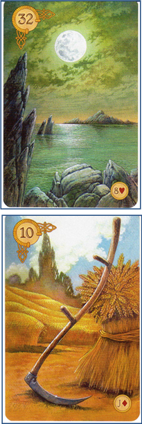 Celtic Lenormand 32 Moon - 10 Scythe