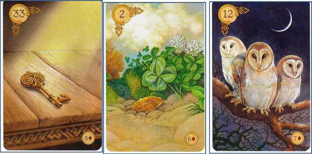 Celtic Lenormand 33 Key - 2 Clover - 12 Birds