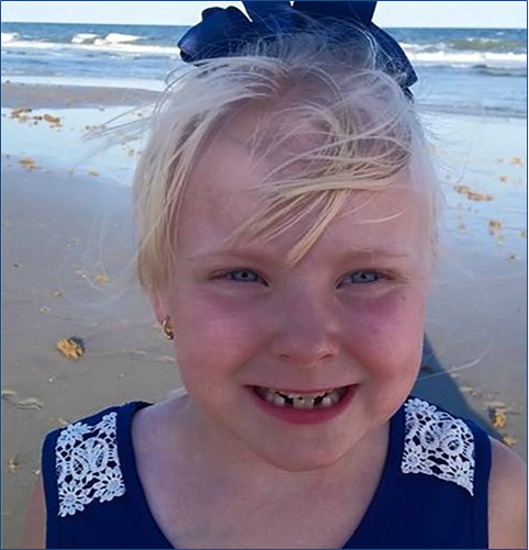 Murdered Child Gabriella Doolin, age 7, Scottsville, KY November 15, 2015