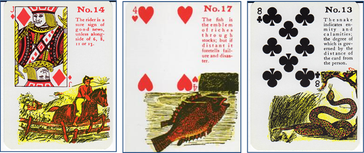 Gypsy Witch Fortune Telling Playing Cards 14 Rider - 17 Fish - 13 Snake http://livingwithcards.com