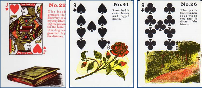 Gypsy Witch Fortune Telling Playing Cards 22 Book - 41 Roses - 26 Park http://livingwithcards.com
