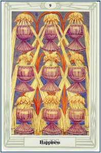 Thoth Tarot 9 of Cups http://livingwithcards.com