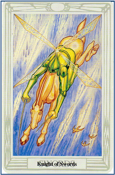 Thoth Tarot Knight of Swords (King of Swords) http://livingwithcards.com