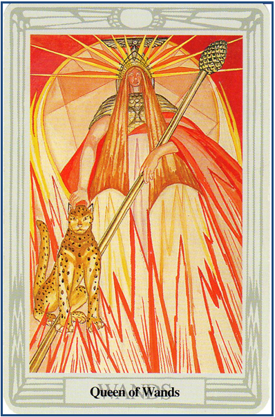 Thoth Tarot Queen of Wands http://livingwithcards.com
