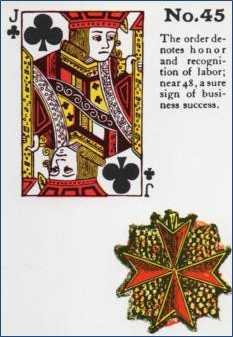 Gypsy Witch Fortune Telling Playing Cards 45 Order Jack of Clubs http://livingwithcards.com