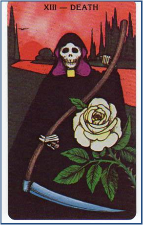 Morgan-Greer Tarot VIII-Death http://livingwithcards.com